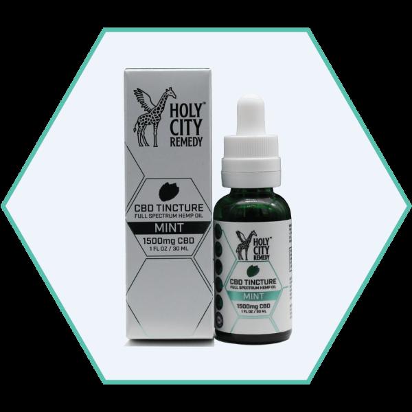 1,500mg CBD Tincture Oils - Mint